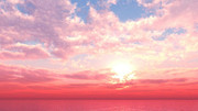 【MMDステージ配布】イチゴ色の朝焼け VV3【スカイドーム】