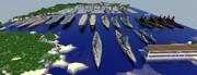 【Minecraft】マイクラで建造した船を集合させてみた2