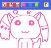 おえかキッズでQBを描いてみた。