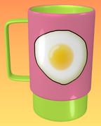 目玉焼きのマグカップ