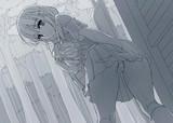 雨に濡れた女子高生