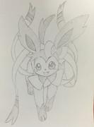 手書きでニンフィアを描いてみた!