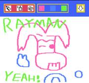 おえかキッズでレイマンを描いてみた