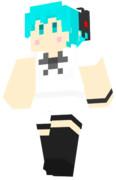 【Minecraft】初音ミク の スキンサンプル【シュープリーム】