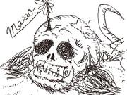 髑髏と髪の毛と蟻