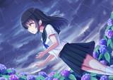 紫陽花と彼女