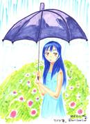 【ワンドロ】梅雨ですね【傘】