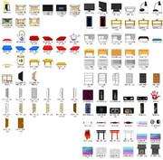 【素材配布】部屋、家具、電化製品等のセットの配布