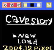 おえかキッズで洞窟物語タイトル画面(英語版)を描いてみた