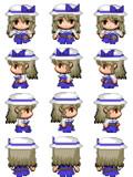 綿月豊姫 RPGツクールMV用歩行グラフィック