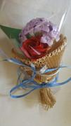 紫陽花と薔薇ブーケ