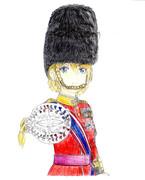 奉祝!英国女王陛下公式誕生日記念絵