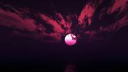 【MMDステージ配布】赤い雲の夜 WW9【スカイドーム】