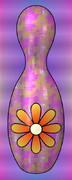 花のボウリングピン