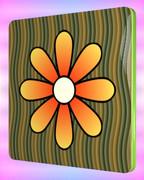 花の四角コースター