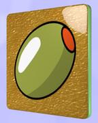 オリーブの四角コースター