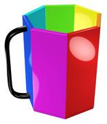 虹色の七角形マグカップ