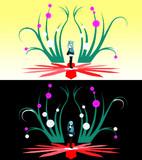 【MMDステージ配布】蔓と珠のステージ