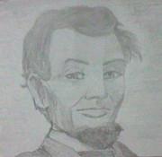 社会の授業中にリンカーンを描いてみた
