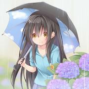 雨と紫陽花と幼女