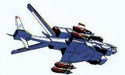 可変戦闘機「VFH-12 スーパーオーロラン」固定翼機形態(下面)