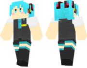 【Minecraft】初音ミク の スキンサンプル【ハツネミク】