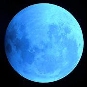 フリー素材 青色の月