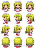 夢子 RPGツクールMV用歩行グラフィック