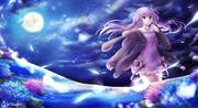 月に紫陽花