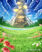 北米版不思議の幻想郷「TOUHOU Genso Wanderer」パッケージ背景