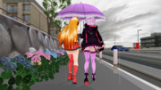 ゆかマキ相合傘