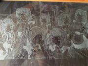 【ネコぱら】痛ガラス板【手彫り】