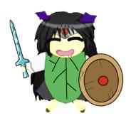 プチヒーローと化したKSDB姉貴.png