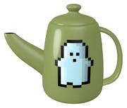 ドット幽霊のティーポット