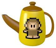 ドット猿のティーポット