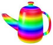 虹色のティーポット