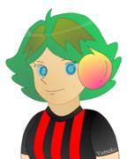 JR8DAGのAM & QRP ホームページのイメージキャラクターのゆめこ(赤黒縦縞)