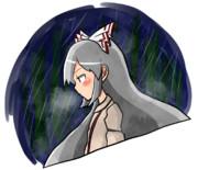 雨に濡れた姿が絵になる妹紅