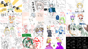 【第8回東方ニコ童祭】第3回T-1グランプリ支援イラストまとめ・星ト芥の場合