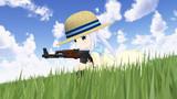 リゼさんに頂いた銃でがんばります!(実は水鉄砲)