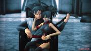 【MMD】- ブラック悟空&悪アキラ。
