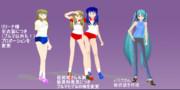 z7ミクさんの新衣装と自作モデル改修版配布します。
