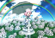 紫陽花と雨上がりの虹 2