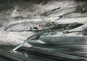 色鉛筆画「STARWARS フォースの覚醒 X-WING」