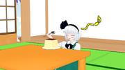 【MMD】プリンを食べようとしてる妖夢