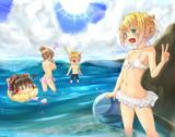 リンちゃんと海に