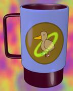 リングとダックのマグカップ