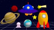 【MMDアクセサリ配布】玩具っぽい宇宙セット