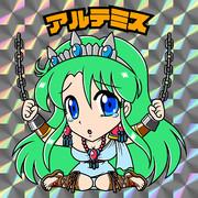 ビックリマン風〜フェリオスのアルテミス(緑)