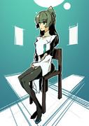 椅子と公務員。